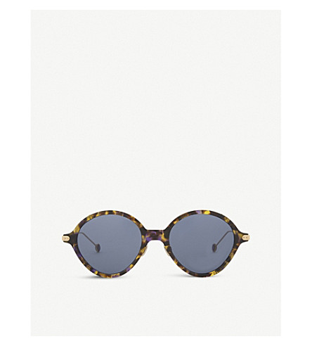 DIOR DiorUmbridge round-frame sunglasses (Tortoise+gold