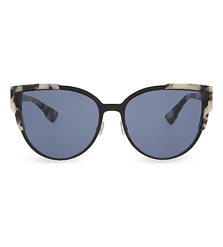DIOR Tortoiseshell cat-eye sunglasses (Tortoise+black