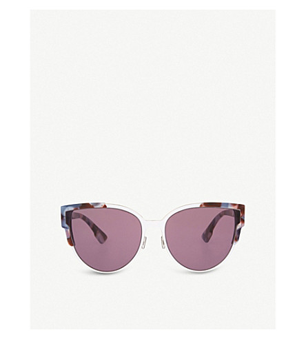 DIOR Floral cat-eye sunglasses (Tortoise+pink