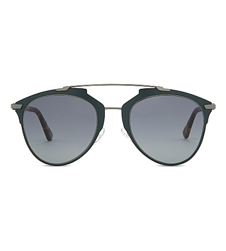 DIOR Reflected tortoiseshell pilot sunglasses (Tortoise+grey