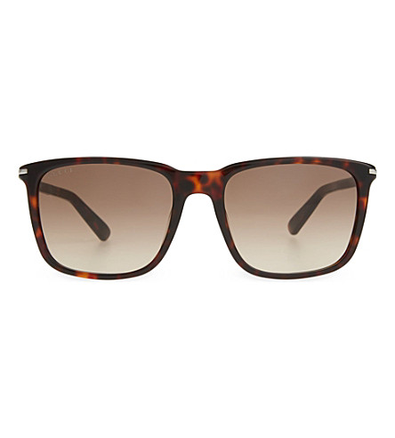 GUCCI G1104 round tortoise shell sunglasses (Tortoise+brown