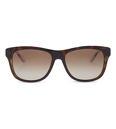 GUCCI GG3709 Havana tortoise shell sunglasses (Havana+crystal