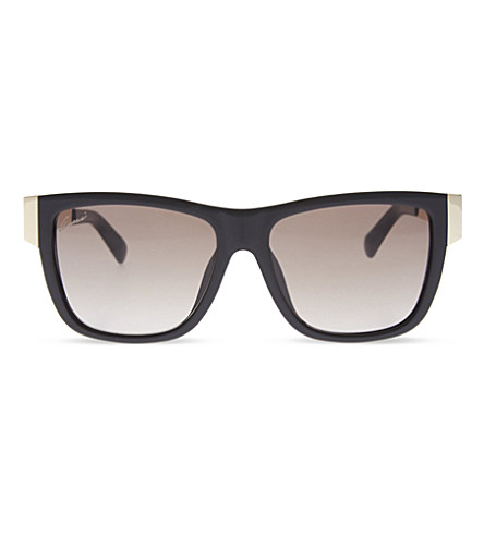 GUCCI GG3718 square sunglasses (Black+gold