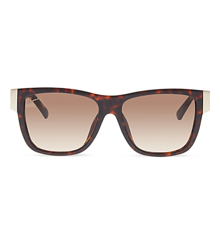 GUCCI GG3718 tortoise shell square sunglasses (Brown+dark