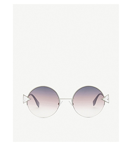 FENDI Ff0243S round-frame sunglasses (Gold+purple
