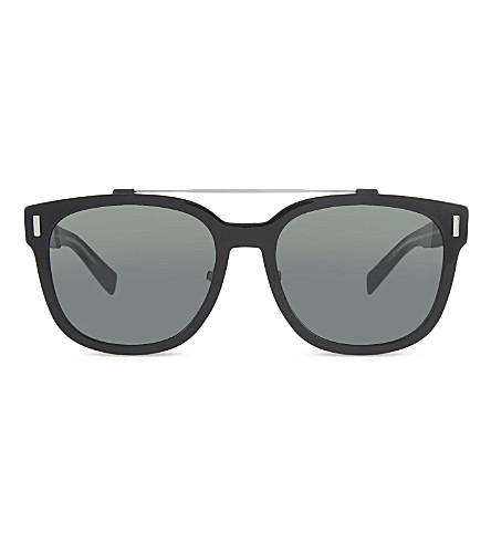 DIOR Double bridge detail aviator sunglasses (Black