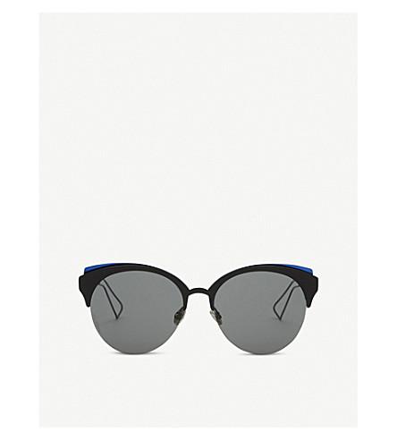 DIOR DioramaClub round-frame sunglasses (Black+matte
