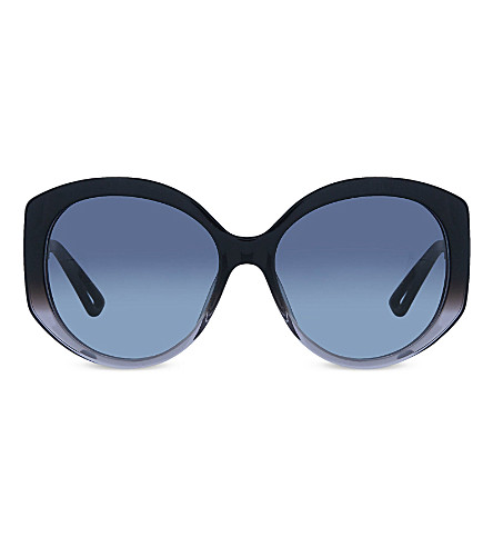 DIOR OSGHD oversized round sunglasses (Grey+dark
