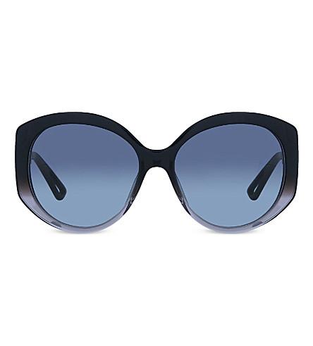 DIOR OSGHD oversized round sunglasses (Grey+dark