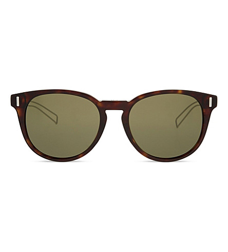 DIOR Blacktie 206FS round-frame tortoiseshell sunglasses (Tortoise+clear