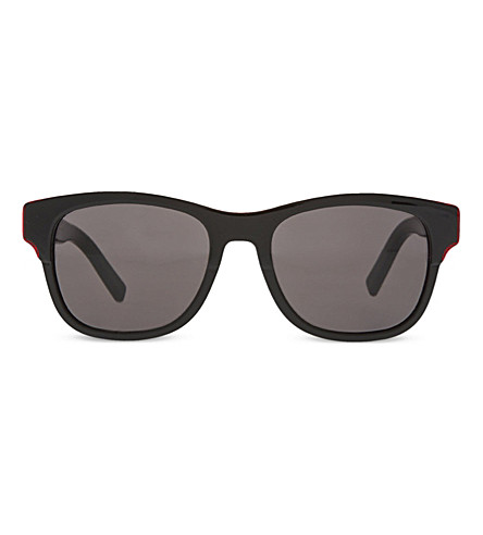DIOR Black Tie 196 square sunglasses (Red+black