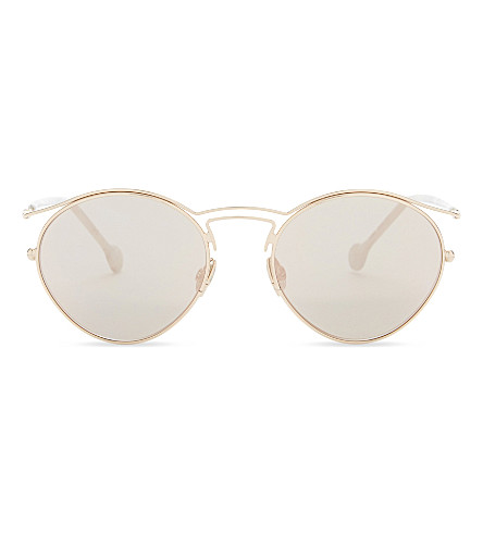 DIOR Origins1 oval-frame sunglasses (Copper+gold