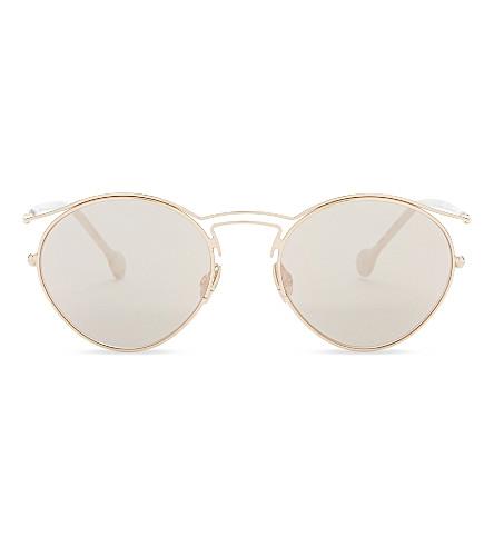DIOR Origins1 oval-frame sunglasses (Copper+gold