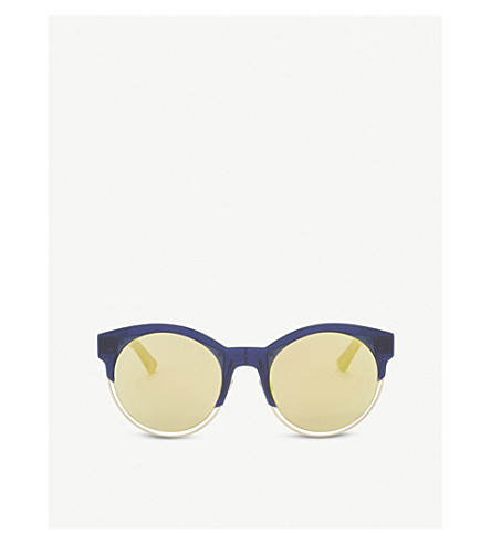 DIOR Sideral1 cat-eye sunglasses (Blue+brown