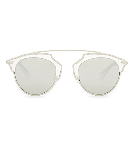 DIOR So Real round sunglasses (Silver+clear