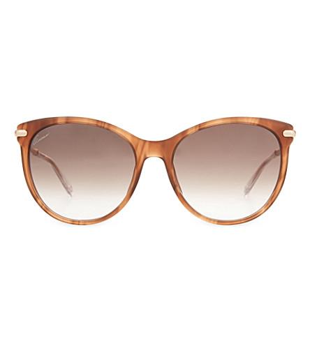 GUCCI Gg3771 cat-eye frame sunglasses (Brown+light
