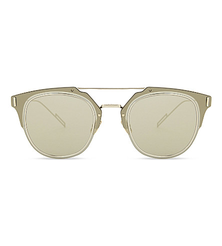 DIOR Composit square-frame sunglasses (Gold