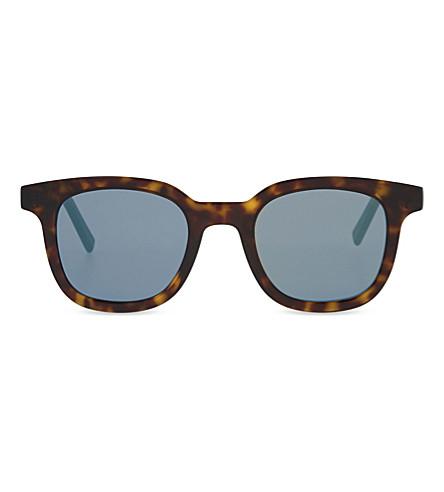 DIOR BLACKTIE219S Square-frame sunglasses (Tortoise+black