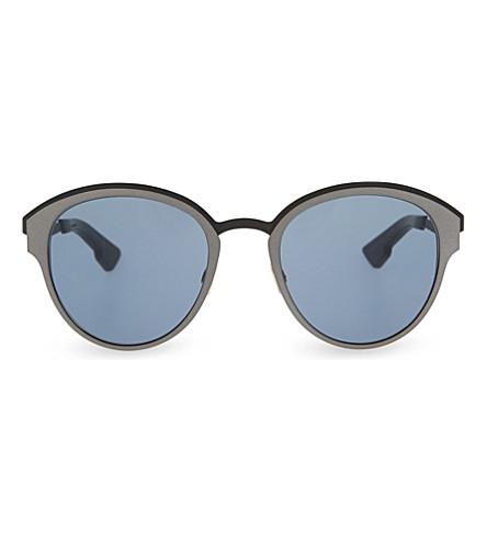DIOR RCO9A round-frame sunglasses (Tortoise+black