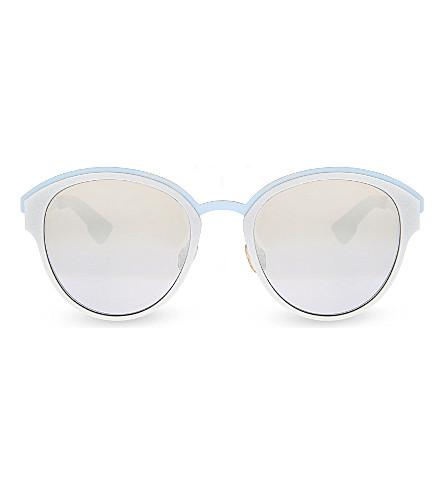 DIOR Round-frame sunglasses (Silver+blue