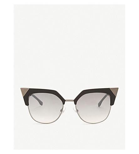 FENDI FF0149s cat-eye frame sunglasses (Gunmetal+black