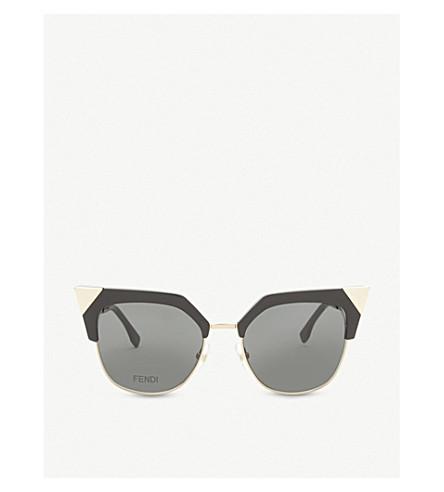 FENDI Ff0149 square-frame sunglasses (Black+gold