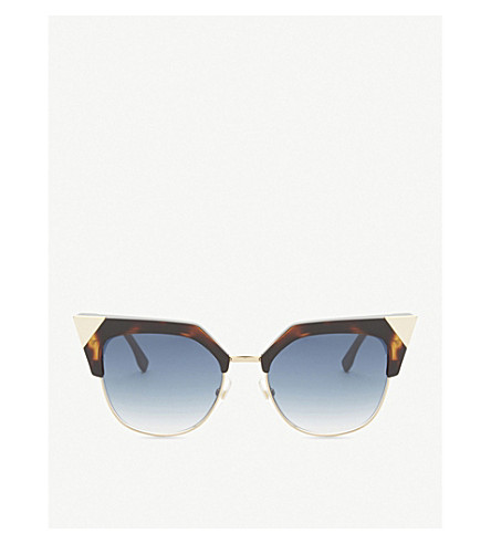 FENDI Ff0149/s Iridia cat-eye frame sunglasses (Tortoise+gold