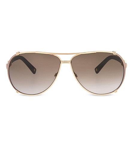 DIOR Aviator sunglasses (Gold+brown