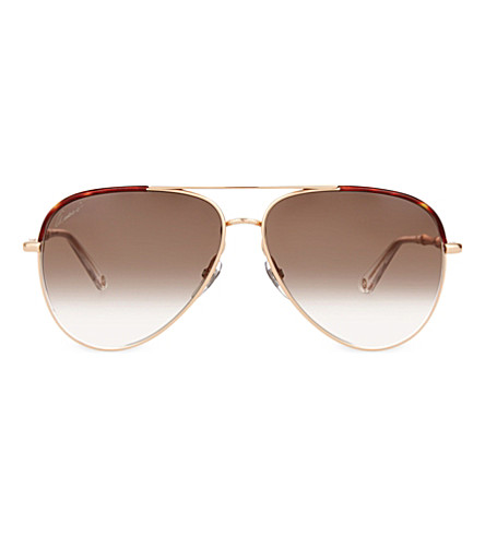 GUCCI Gg4276 aviator sunglasses (Copper+gold