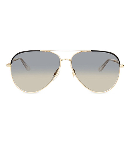 GUCCI GG4276 pilot sunglasses (Gold