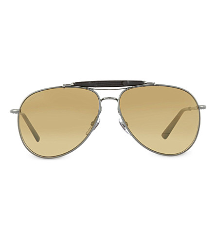GUCCI Gunmetal rectangle sunglasses GC000384 (Gunmetal