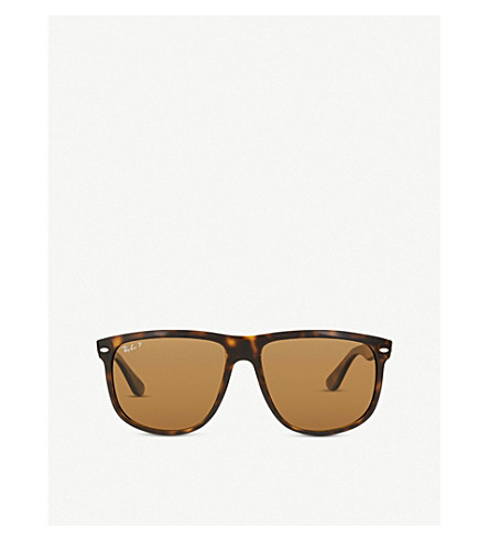 RAY-BAN RB4147 square-frame sunglasses (Light+havana