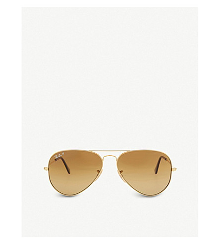 RAY-BAN RB3025 Aviator sunglasses (Shiny+gold