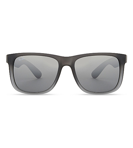 RAY-BAN Rb4165 Justin rectangle-frame sunglasses (Rubber grey