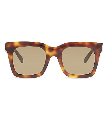 CELINE CL41411 square-frame tortoiseshell sunglasses (Tortoise