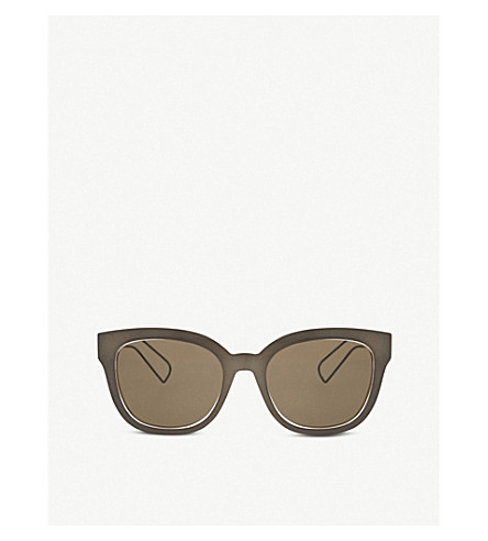 DIOR Diorama1 rectangle-frame sunglasses (Grey