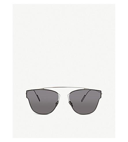DIOR DIOR0204 silver pilot sunglasses (Silver+white