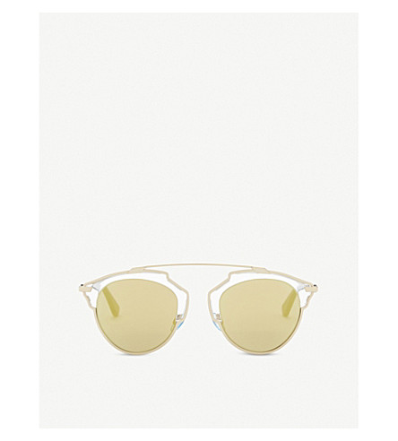 DIOR So Real round frame sunglasses (Gold+black