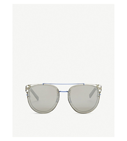 DIOR Blacktie143s square-frame sunglasses (Clear