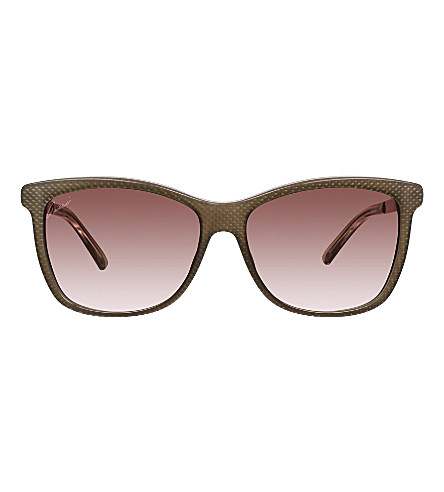GUCCI Square sunglasses GC000595 (Brown+gold