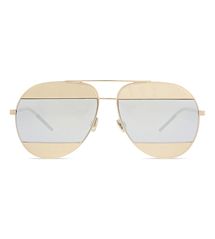 DIOR Dc5914 split pilot sunglasses (Pink+gold