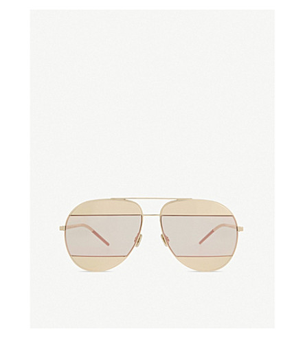 DIOR 5914 split pilot sunglasses (Pink+gold