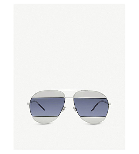 DIOR Split aviator sunglasses (Gunmetal