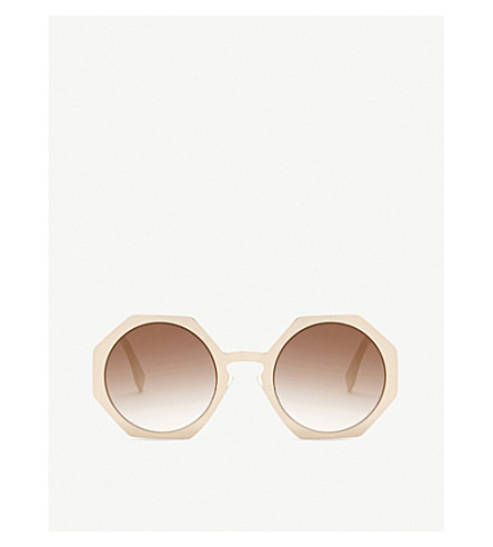 FENDI Ff0152 round-frame sunglasses (Copper+gold