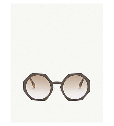 FENDI Ff0152 irregular sunglasses (Brown matte