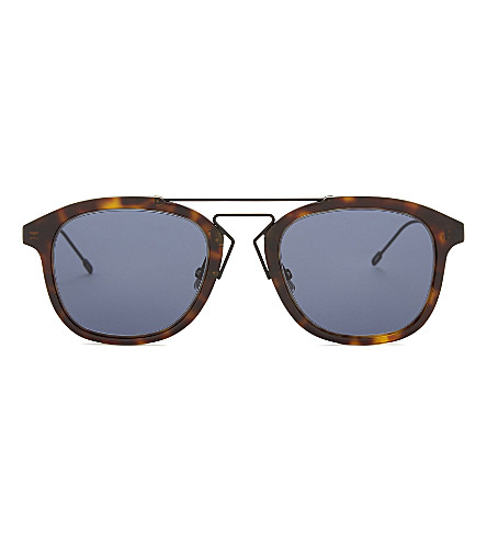 DIOR Blacktie 227s oval frame sunglasses (Tortoise