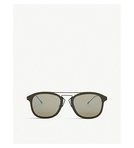 DIOR Blacktie227s oval-frame sunglasses (Green