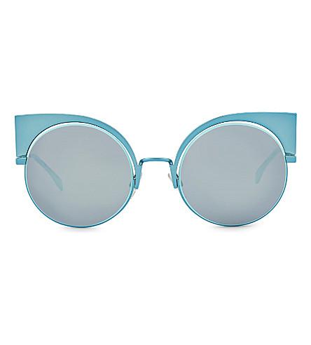 FENDI FF0177 round sunglasses (Blue+light