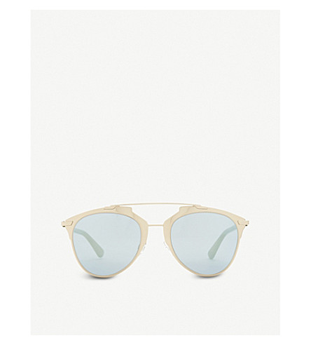 DIOR Reflected oval sunglasses (Pink+gold