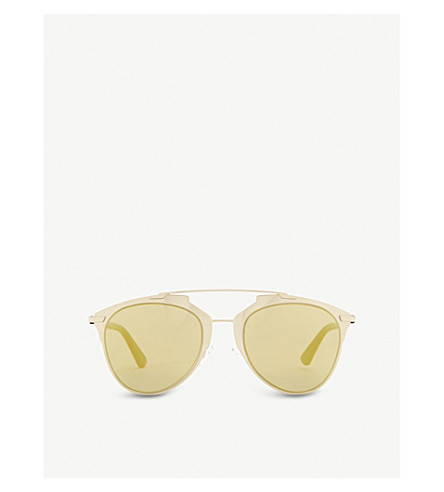 DIOR Reflected oval sunglasses (Gold+purple